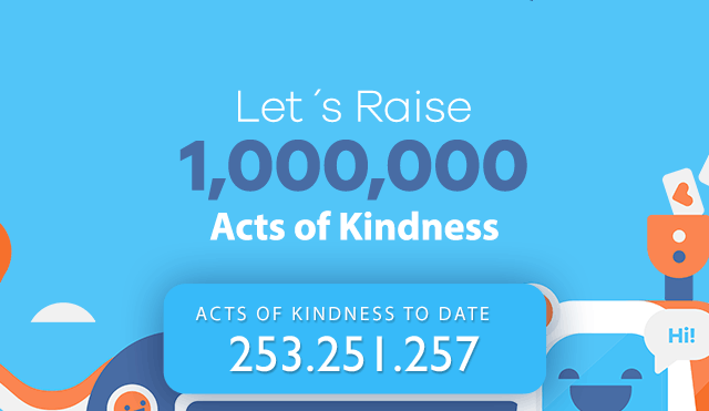 Let's Raise 1,000,000 acts of kindness!
