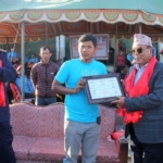 certificate-distributed-to-special-guest-iswor-bahadur-gurung-by-chief-advisor-of-event